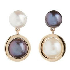TPL 9 Carat Gold Pearl Drop Earrings