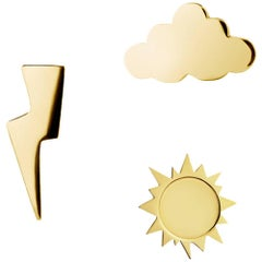 TPL Vermeil Set-of-3 Weather Stud Earrings