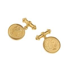 TPL Vermeil Coin Cufflinks