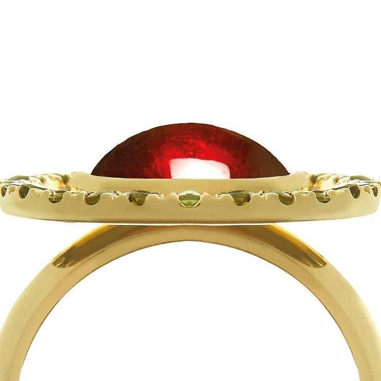 Tourmaline Garnet Gold Ring 3