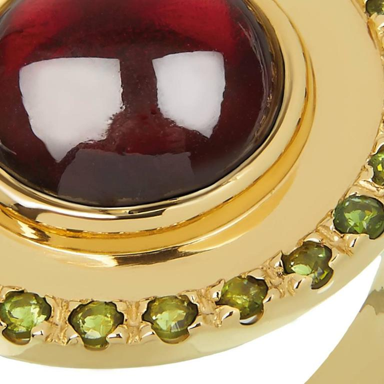 Tourmaline Garnet Gold Ring 4