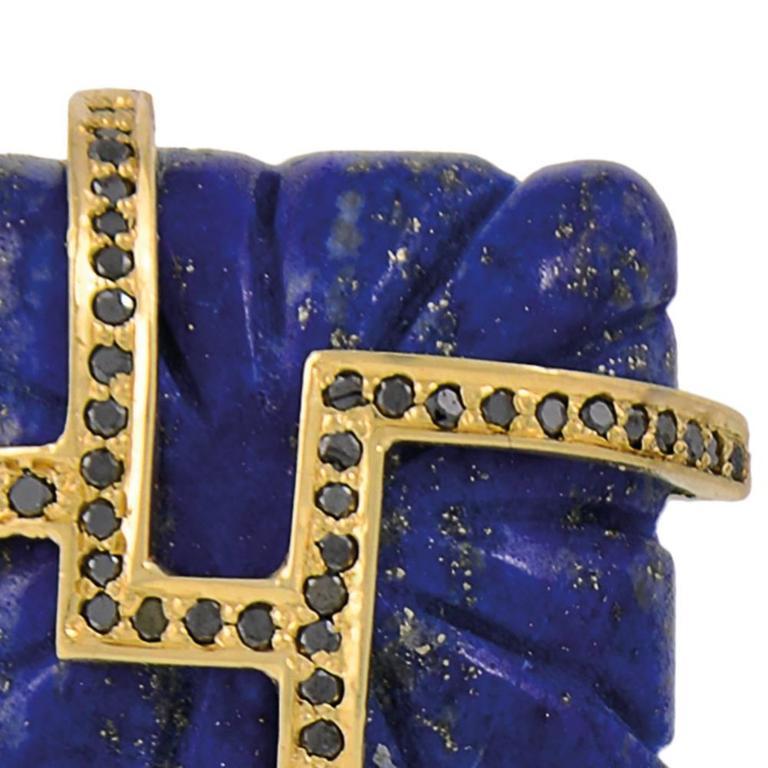 Lapis Lazuli Tourmaline Sapphire Black Diamond Earrings 10