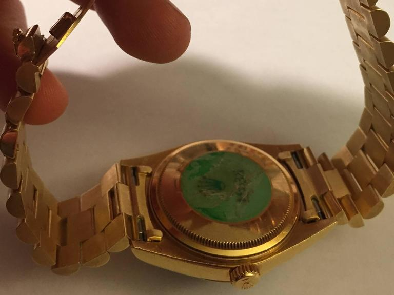 Rare Rolex Oyster Perpetual Day-Date President with Brown Vignette Diamond Dial For Sale 1