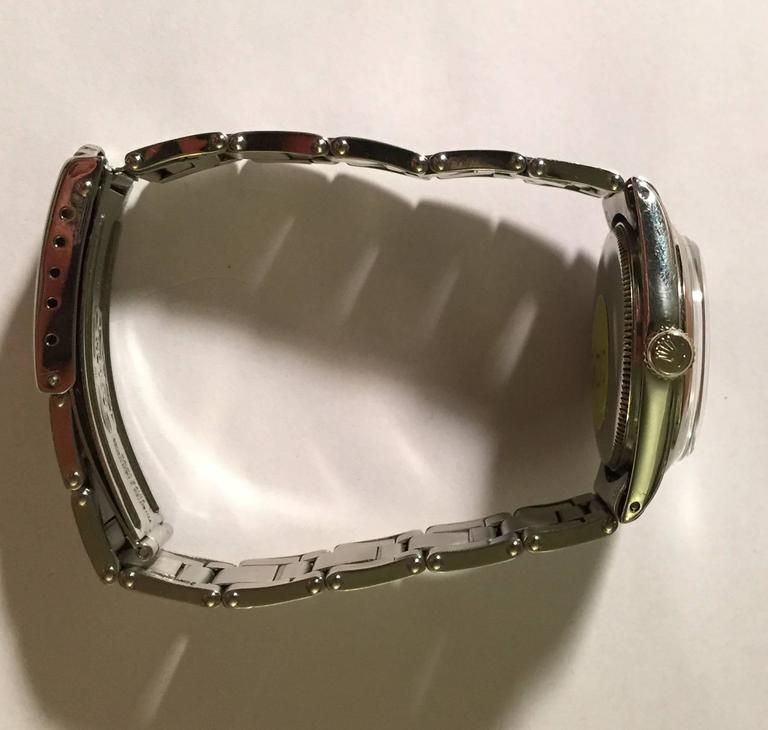 Vintage Rolex Stainless Steel Oyster Perpetual Wristwatch For Sale 1
