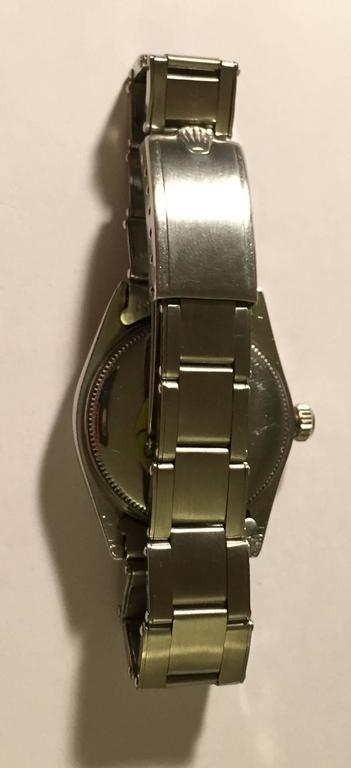Women's Vintage Rolex Stainless Steel Oyster Perpetual Wristwatch For Sale