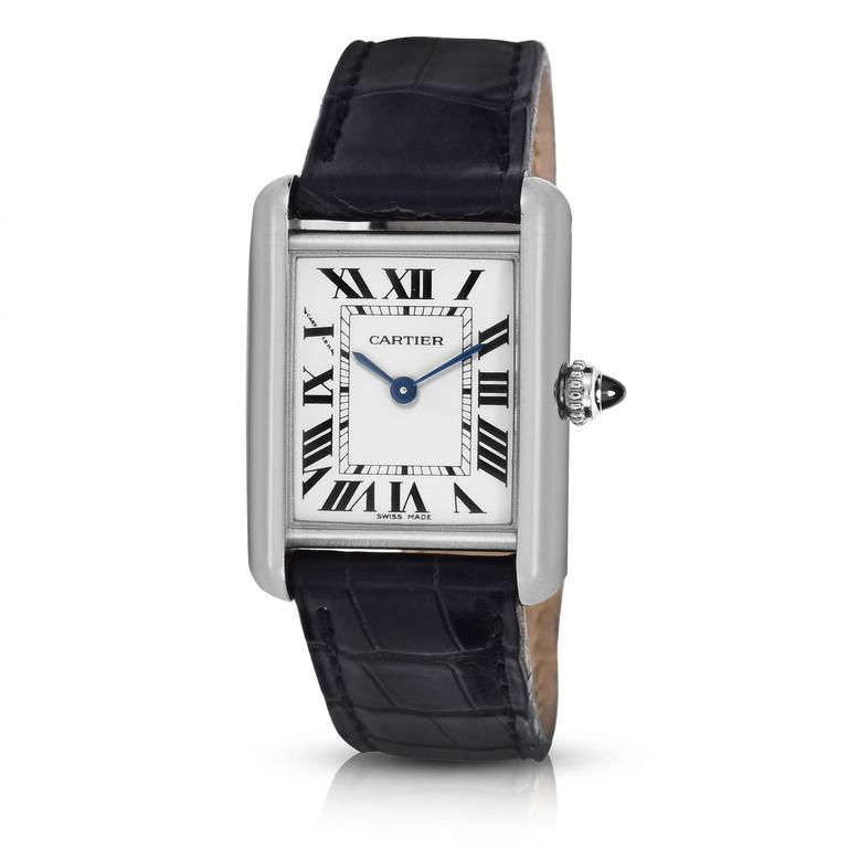 Cartier Ladies White Gold Tank Quartz Wristwatch 2