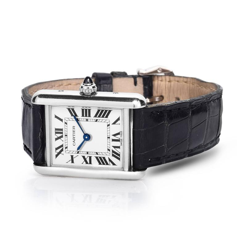 Cartier Ladies White Gold Tank Quartz Wristwatch 3