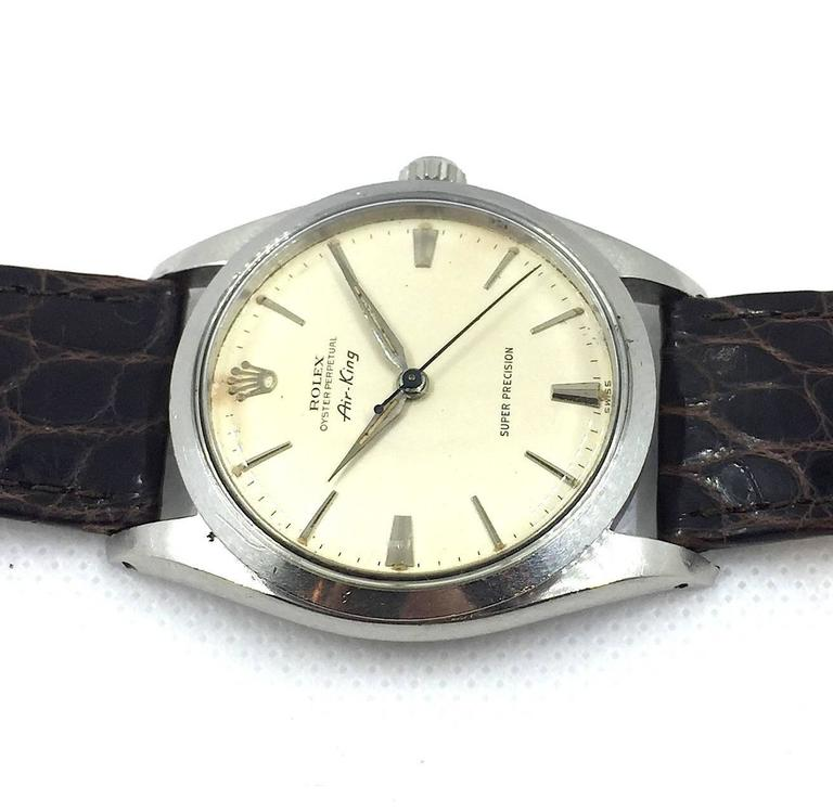 Rolex Stainless Steel Air-King Precision Wristwatch 4