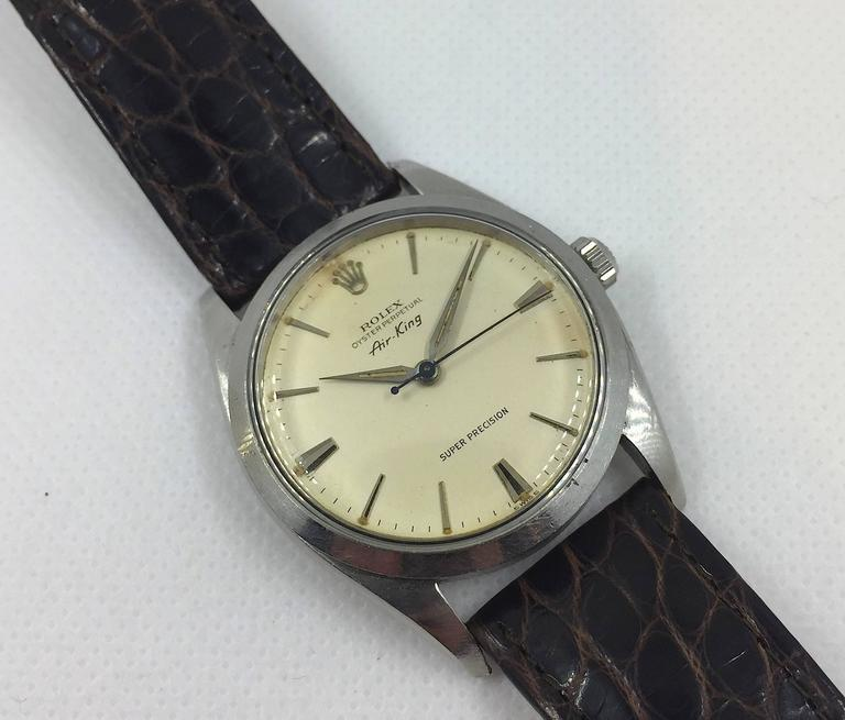 Rolex Stainless Steel Air-King Precision Wristwatch 5