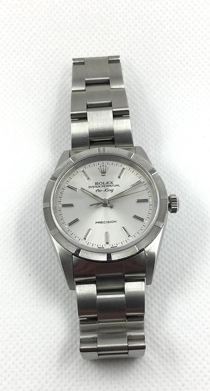Rolex Stainless Steel Oyster Perpetual Air King Automatic Wristwatch For Sale 1
