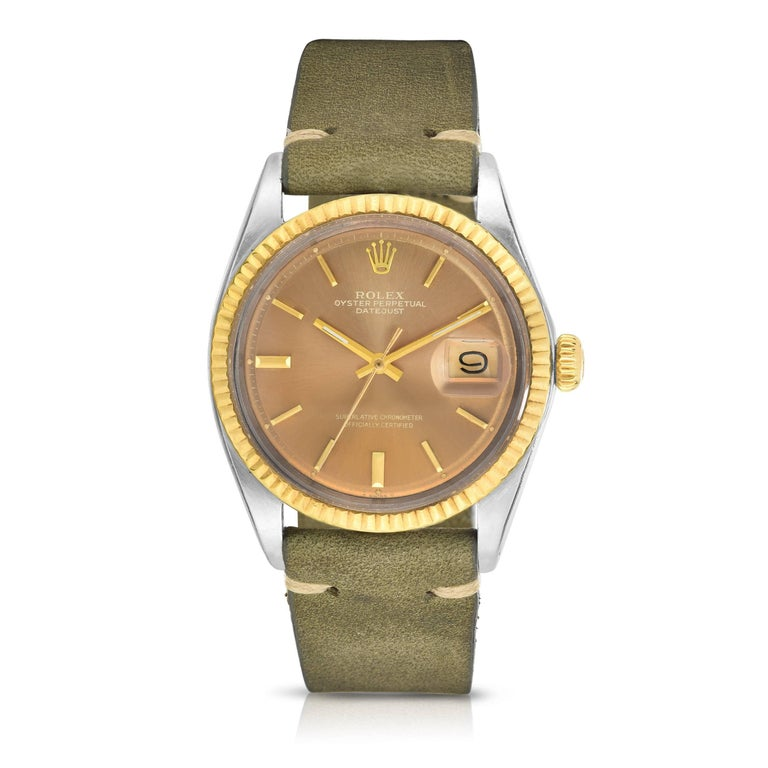 Rolex Stainless Steel and Yellow Gold Datejust Automatic Wristwatch, 1970s  2