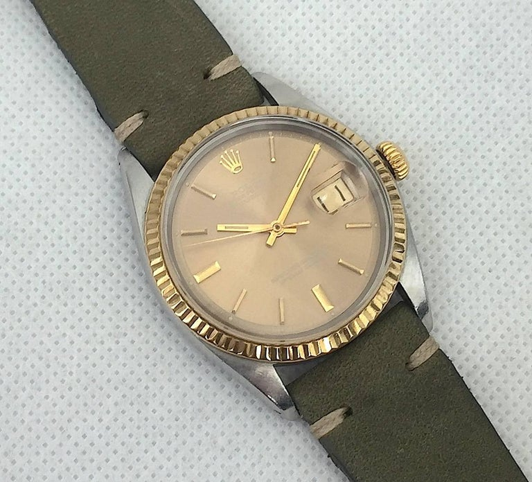 Rolex Stainless Steel and Yellow Gold Datejust Automatic Wristwatch, 1970s  3
