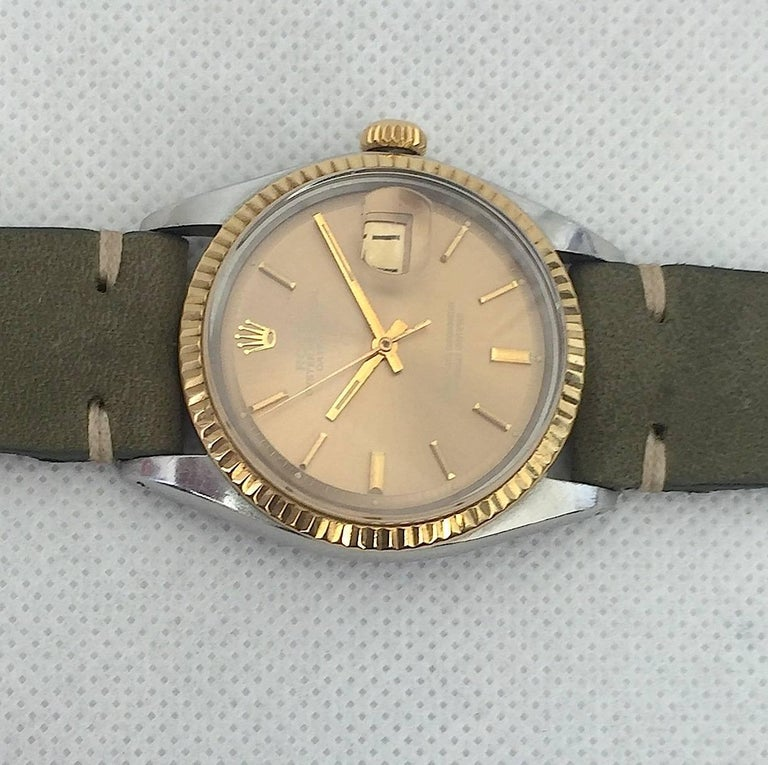 Rolex Stainless Steel and Yellow Gold Datejust Automatic Wristwatch, 1970s  4