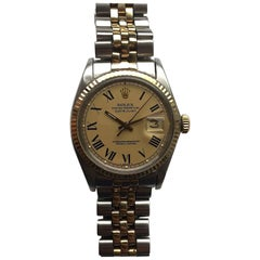 Rolex Yellow Gold Stainless Steel Buckley Dial Automatic Wristwatch, 1960s