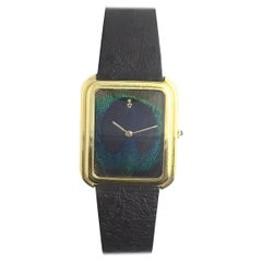 Corum Yellow Gold Peacock Feather Manual Wind Wristwatch