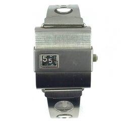 LIP Stainless Steel Manual Wind Wristwatch