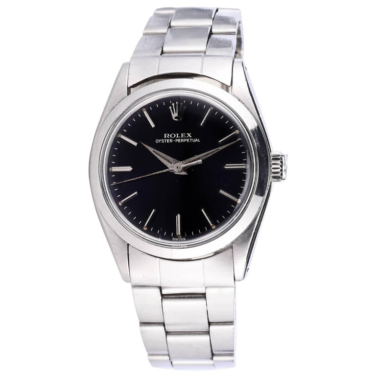 Rolex Ladies Stainless Steel Oyster Perpetual Vintage Wristwatch, 1960s