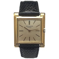 Patek Philippe Yellow Gold Square Manual Wind Wristwatch