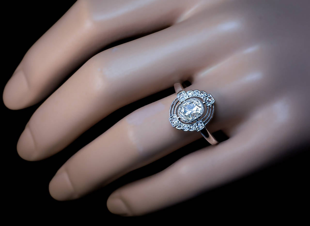 russian deco platinum engagement ring at 1stdibs