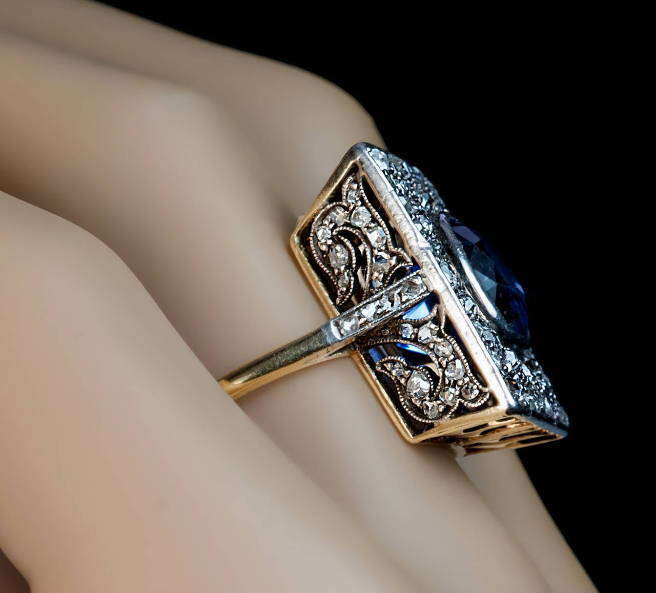 antique 5 carat sapphire gold ring at 1stdibs