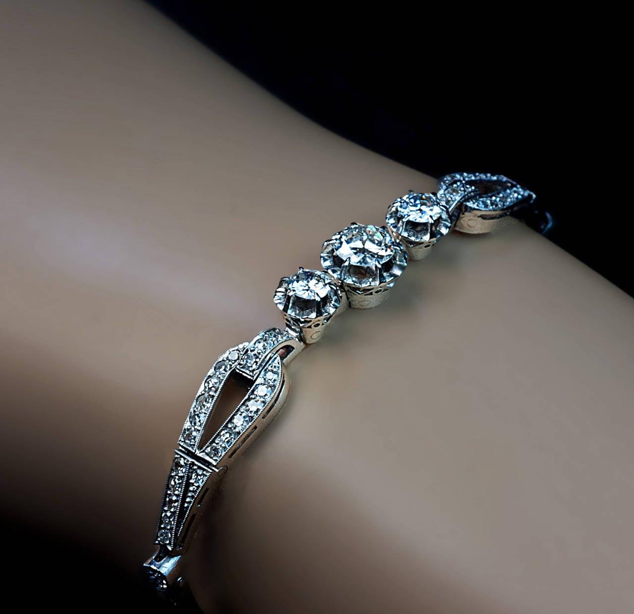art deco diamond platinum bracelet 1920s at 1stdibs