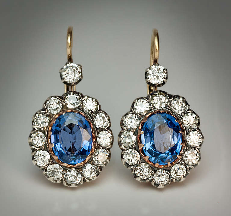 antique russian sapphire earrings at 1stdibs