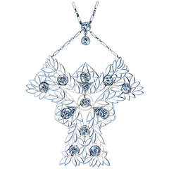 French Art Nouveau Diamond Necklace c. 1910