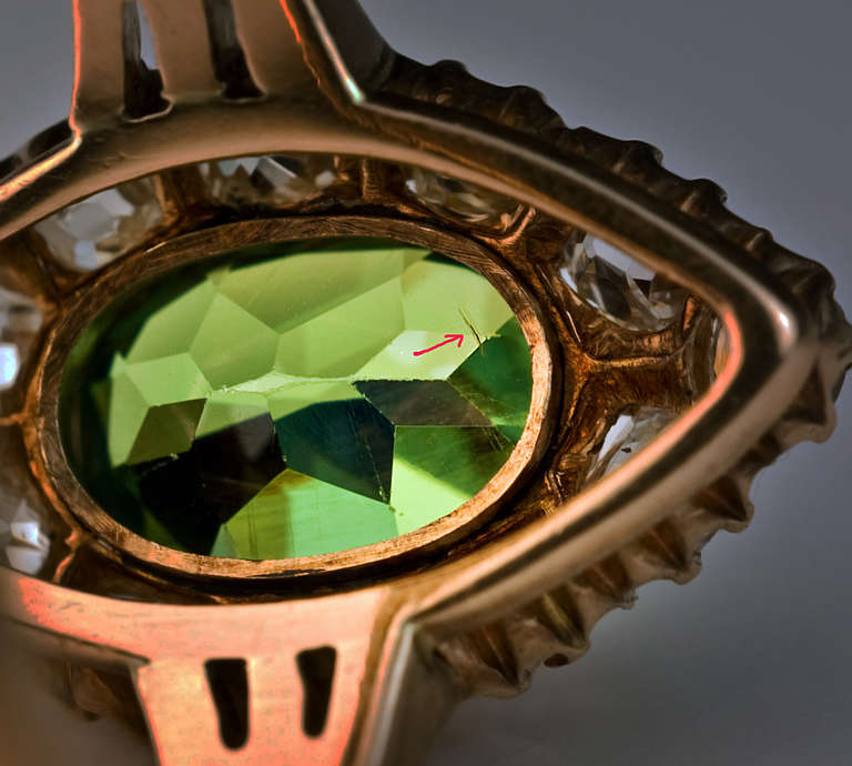 Antique Russian Demantoid Ring 6