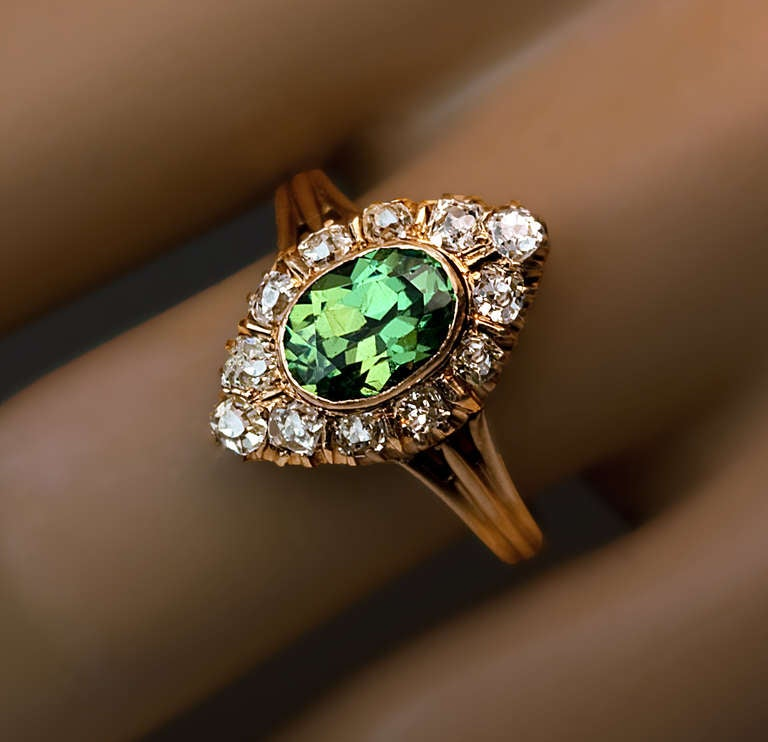 Antique Russian Demantoid Ring 3