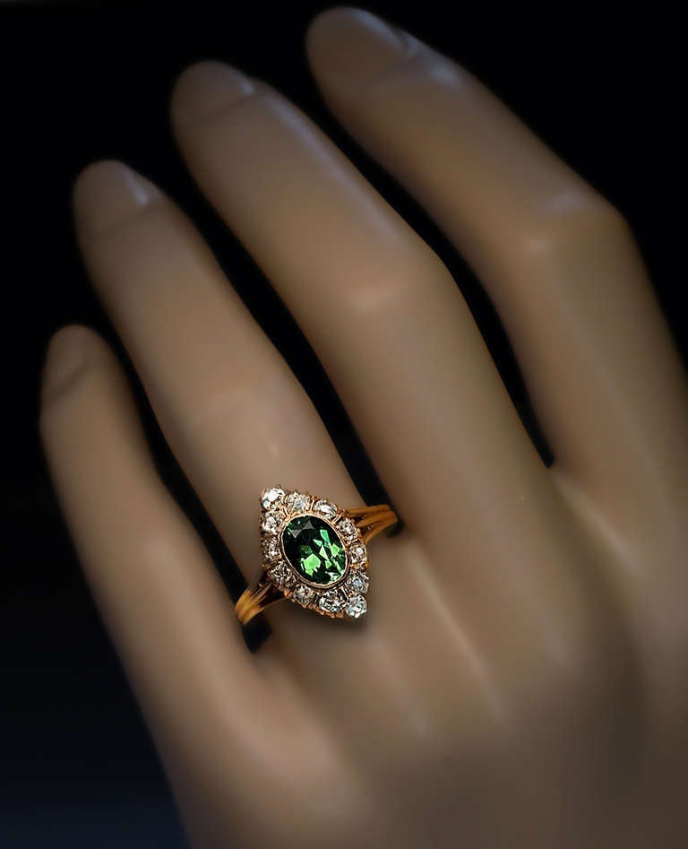 Antique Russian Demantoid Ring 2