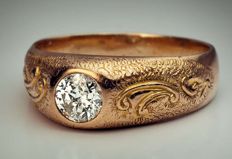 Wedding Ring Bands >> Men's Diamond Ring 1920s at 1stdibs