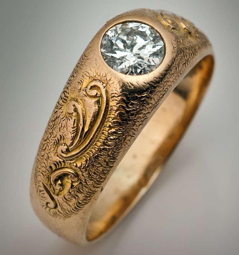 Men S Diamond Ring 1920s At 1stdibs
