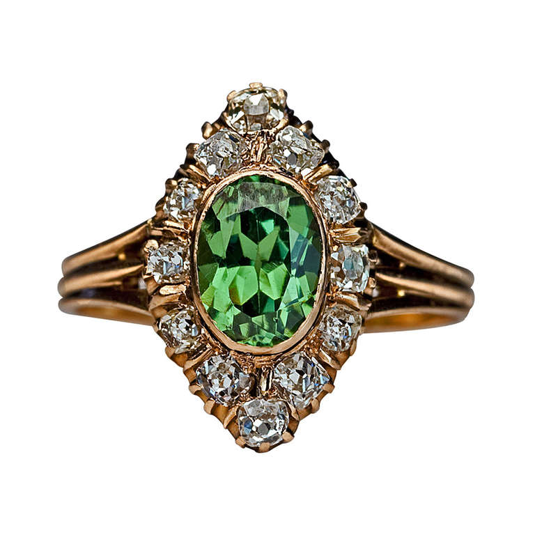 Antique Russian Demantoid Ring 1