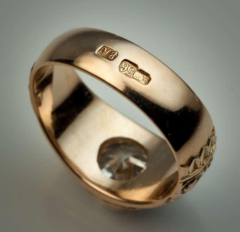 Antique Russian Diamond Ring At 1stdibs