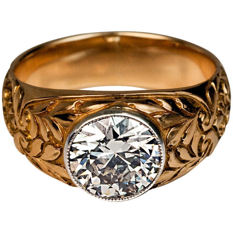 Antique Russian Diamond Ring at 1stdibs