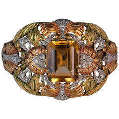 Exceptional Art Nouveau Bangle Bracelet C1910
