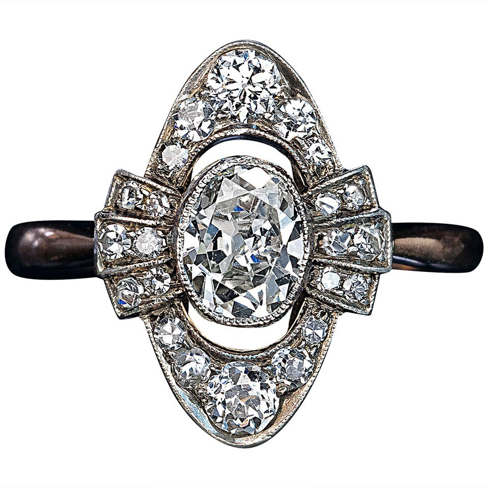 antique edwardian cluster ring at 1stdibs