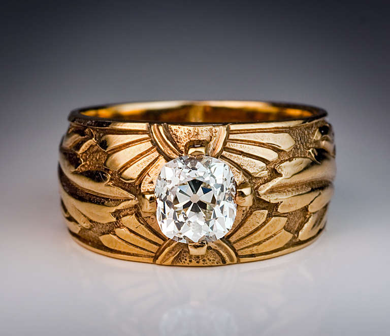 antique russian solitaire ring for sale at 1stdibs
