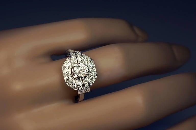 Antique Art Deco Platinum Ring