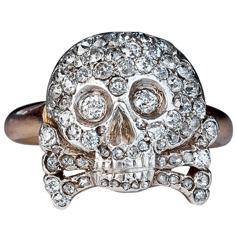 antique imperial russian skull ring for sale at