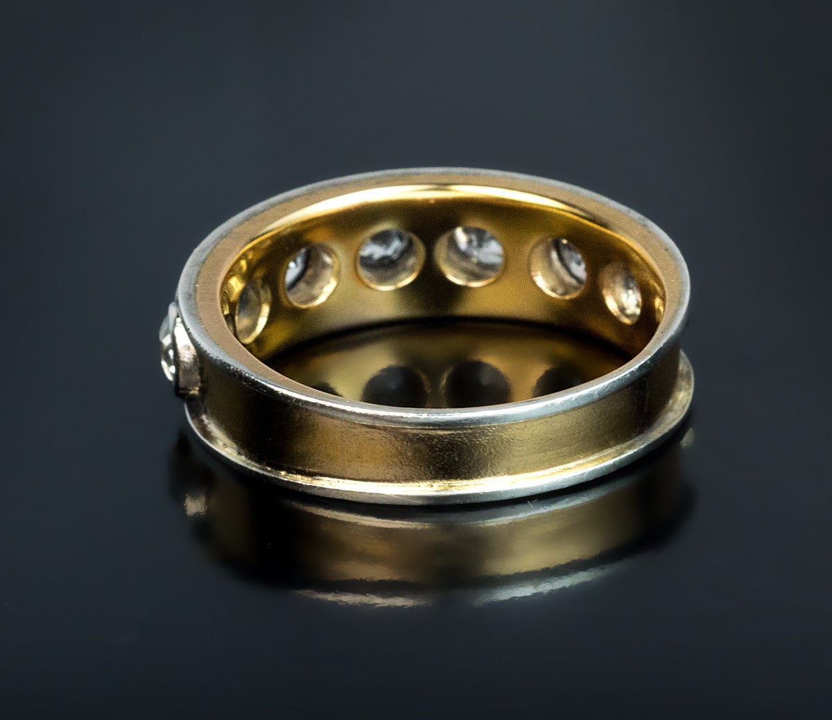 Antique Russian Men 39 S Diamond Gold Band Ring For Sale At 1stdibs