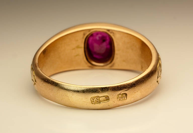 Antique Ruby Men S Ring At 1stdibs