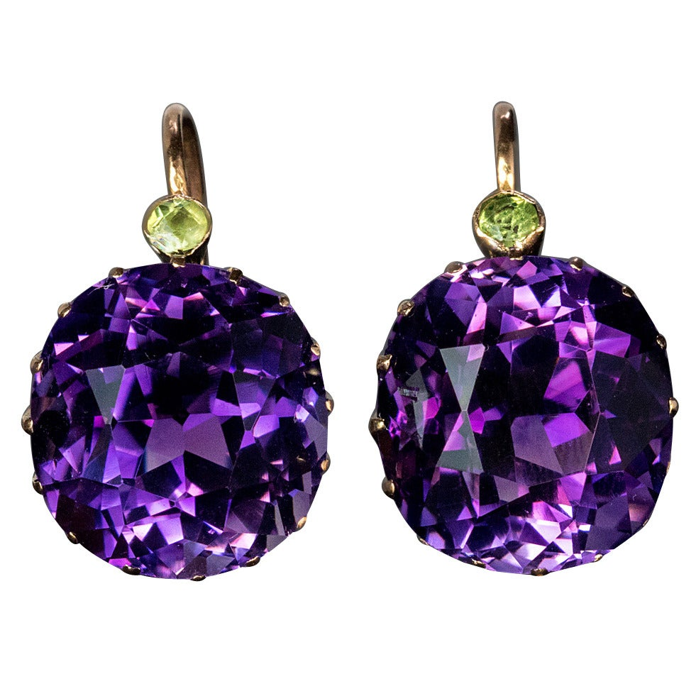 Antique Siberian Amethyst Earrings At 1stdibs