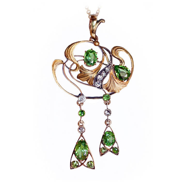 Art Nouveau Russian Demantoid Necklace