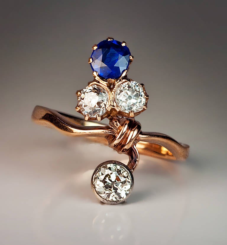 Rose Gold Art Nouveau Ring Russian