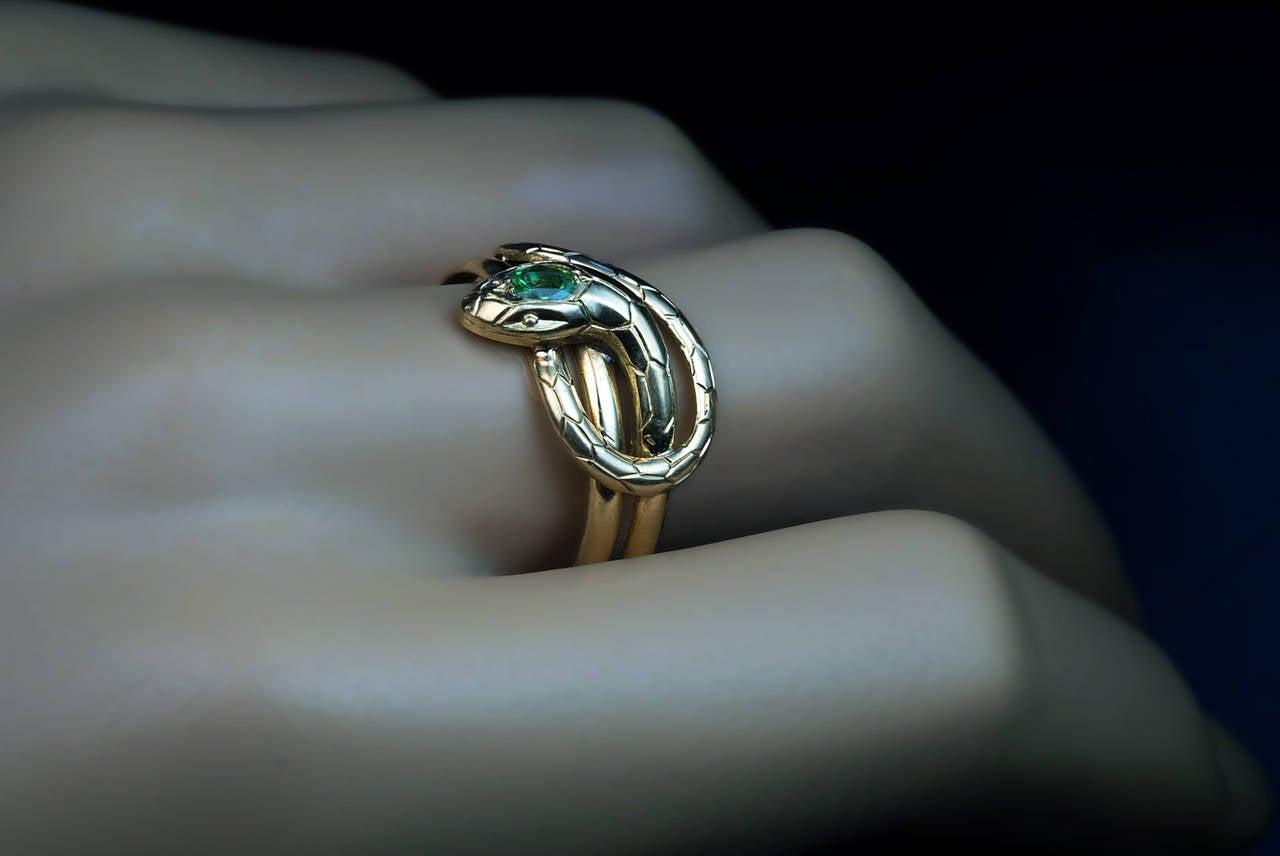 antique demantoid gold snake ring at 1stdibs