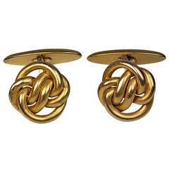 Antique Russian Gold Knot Cufflinks
