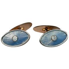 Antique Faberge Enamel Cufflinks