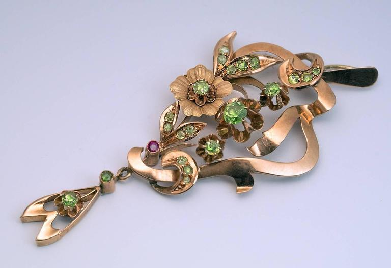 Art Nouveau Antique Russian Demantoid Gold Pendant 3
