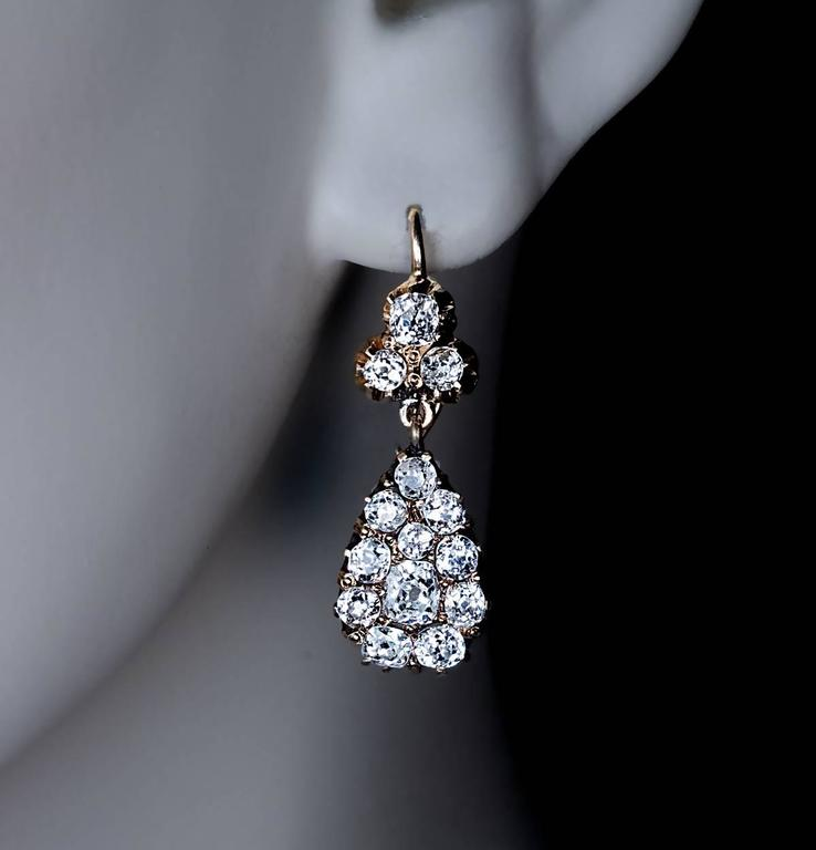 antique diamond made are jewelry between earrings drop id and j prong gold sale in the russian for odessa crafted at l